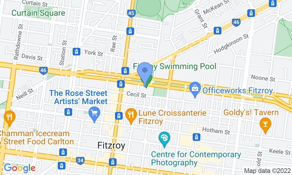 Fitzroy Swimming Pool - Yarra Leisure map