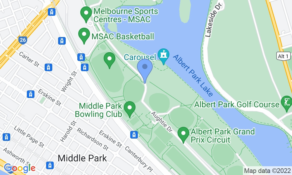 Melbourne Sports & Aquatic Centre map