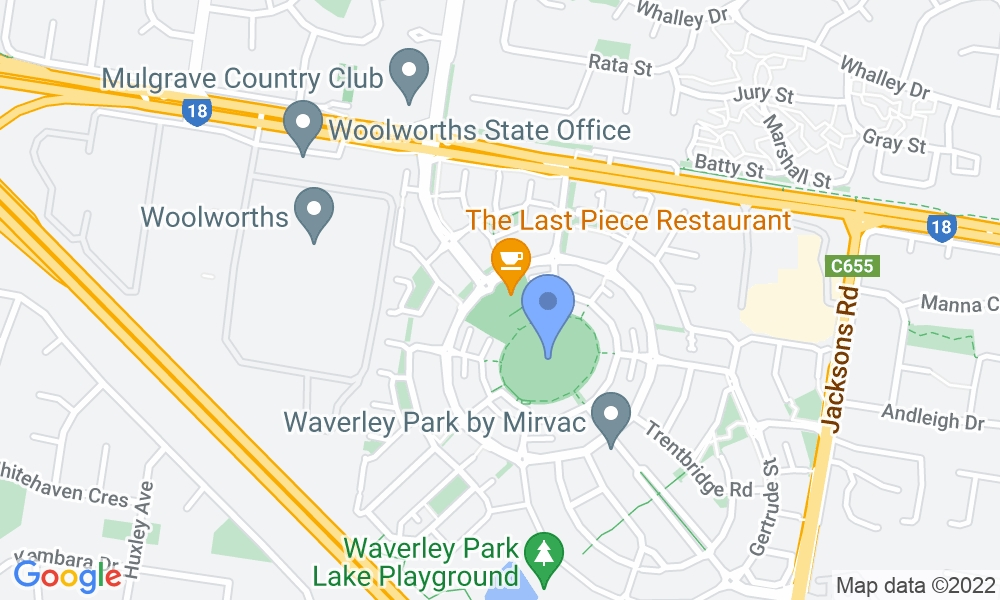 Goodlife Health Clubs Waverley Park map