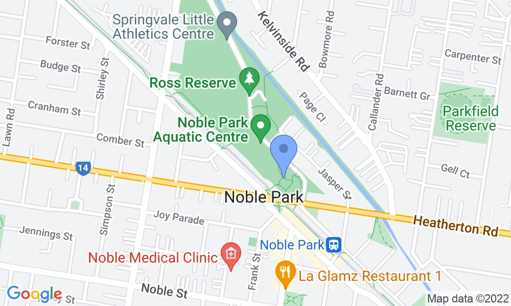 Noble Park Aquatic Centre map