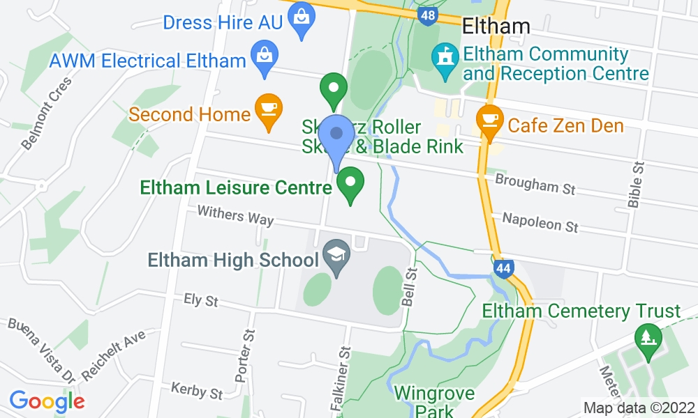 Eltham Leisure Centre map