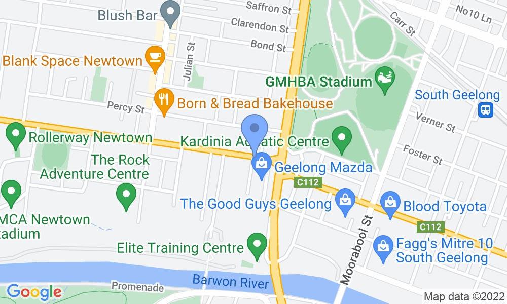 Geelong's Gym map