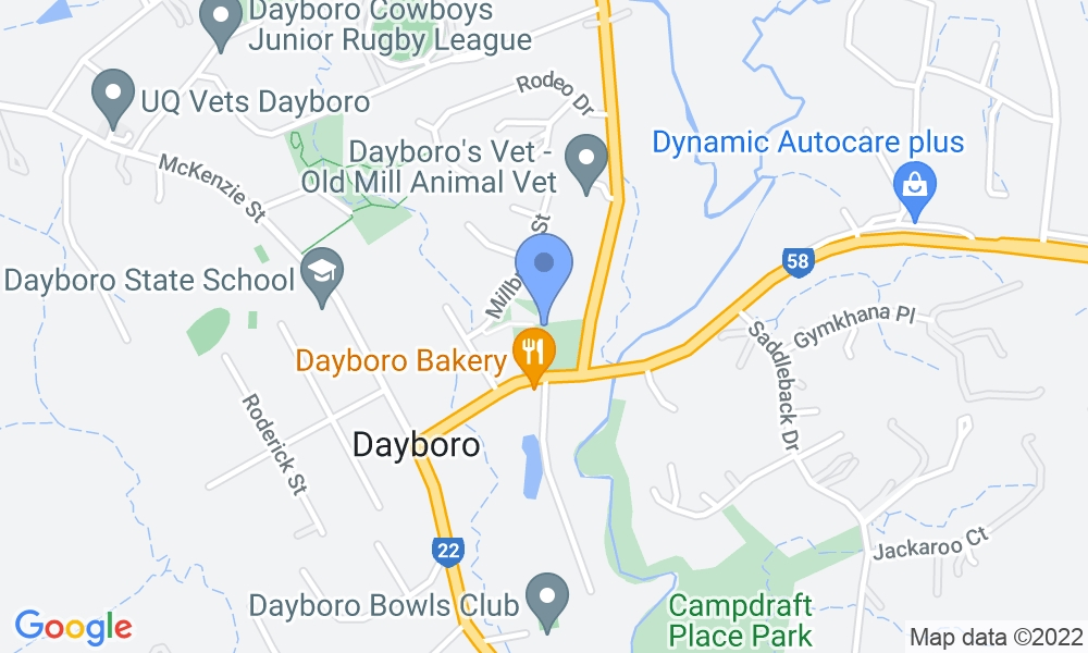 Dayboro Pool and Gym map