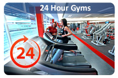 Find 24 hour gyms
