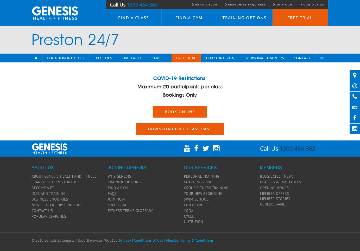 Genesis Fitness Clubs Preston Group Fitness Timetable