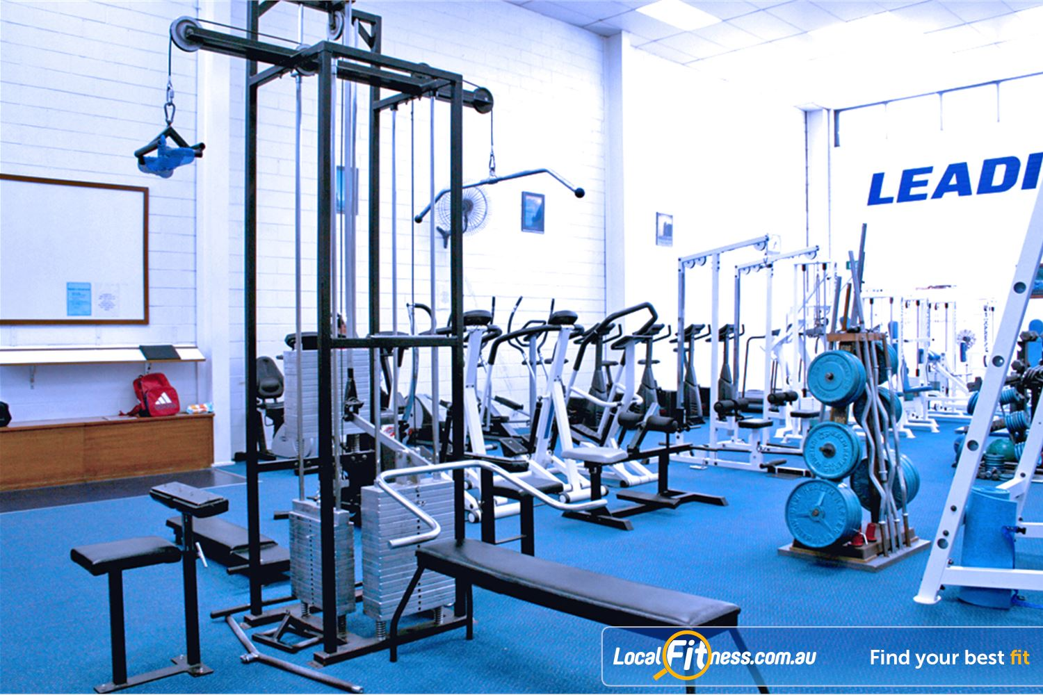 Leading Edge Health & Fitness Near Wheelers Hill All your favorite machines including bench, lat pull downs, rows and more.