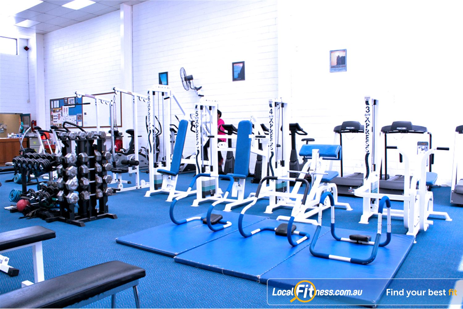 Leading Edge Health & Fitness Near Burwood East A personal gym space with a full range of equipment.