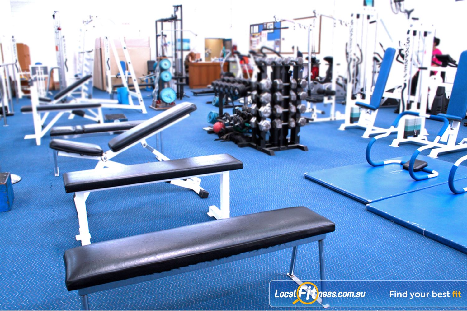 Leading Edge Health & Fitness Near Notting Hill Our Glen Waverley free-weights area includes benches, dumbells and more.