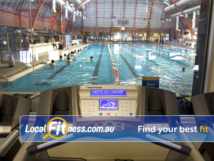 Richmond Recreation Centre - Yarra Leisure Richmond North Gym Fitness Relaxing views from the cardio