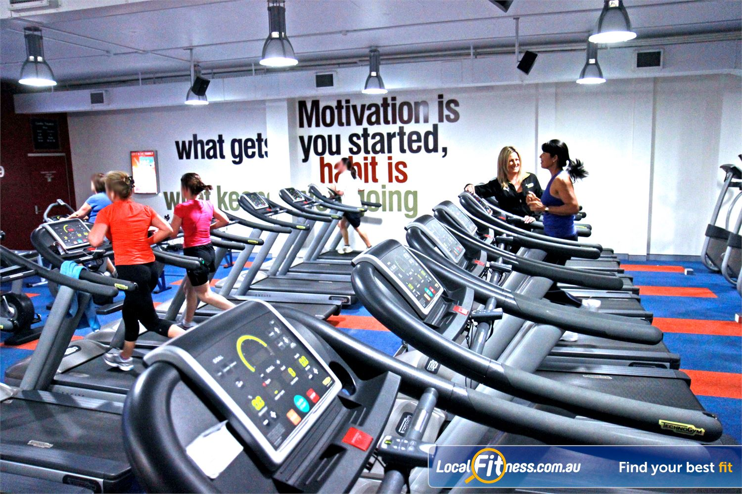 Goodlife Health Clubs Innaloo Our signature cardio theatre setup at Goodlife Innaloo gym.
