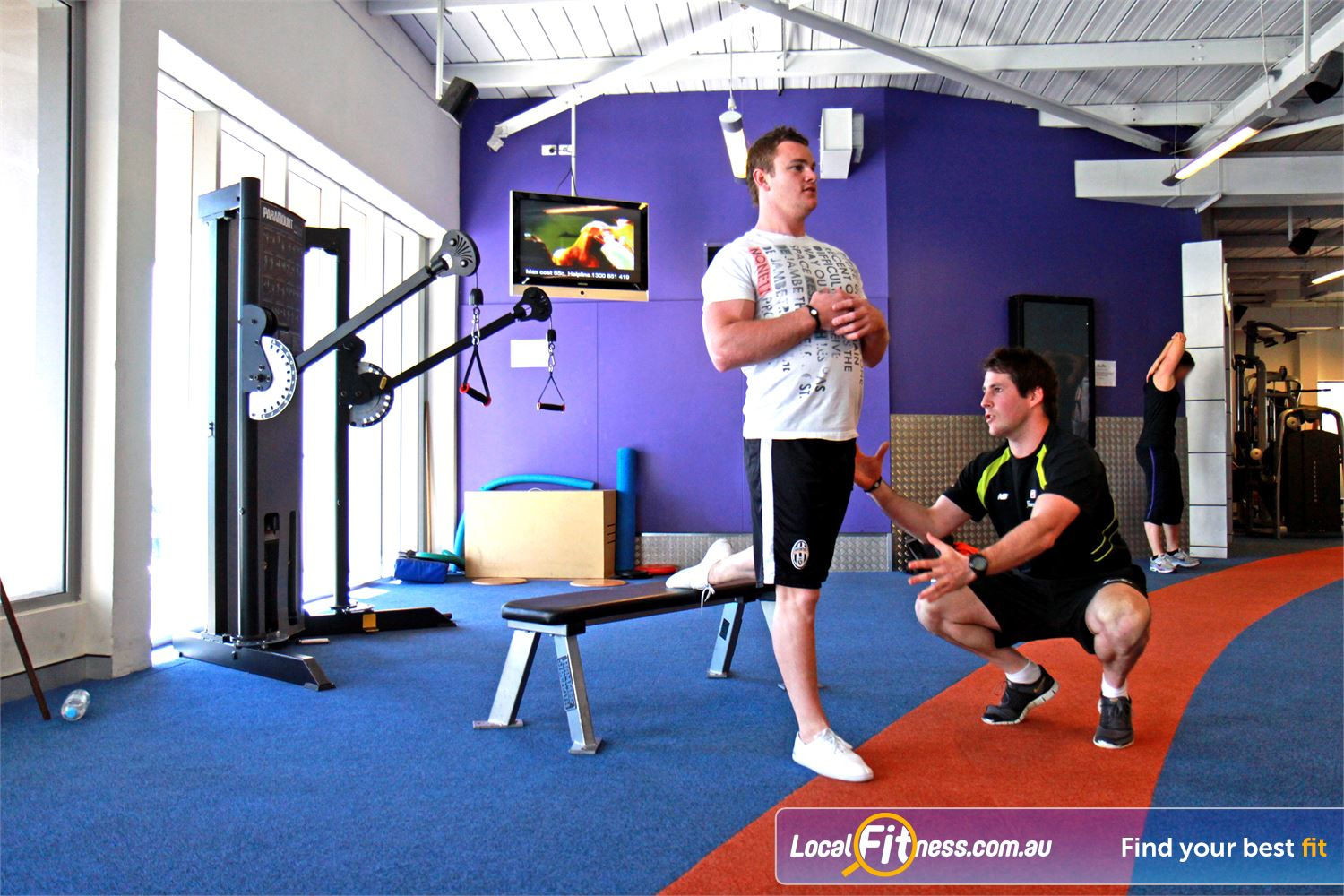 Goodlife Health Clubs Near Osborne Park Innaloo personal trainers can include functional training into your workout.