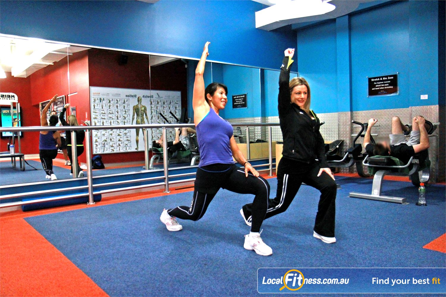 Goodlife Health Clubs Innaloo Our dedicated abs and stretch area in our Innaloo gym.