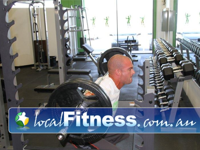 Real Fitness OConnor Our comprehensive free-weights area is for Real training.