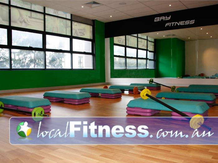Bay Fitness Gym Macquarie Park  | The spacious Meadowbanks group fitness studio.