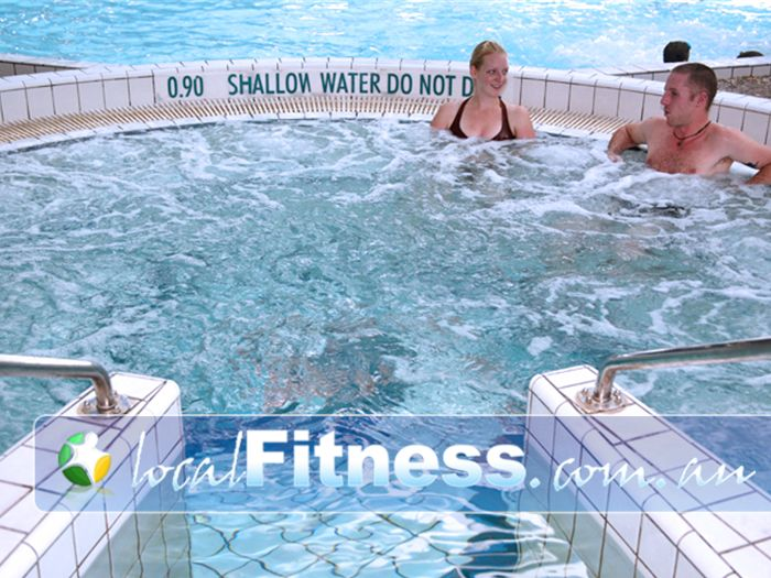 Aqualink Leisure Centre Gym Blackburn South  | Our open air spa in our relaxation zone.