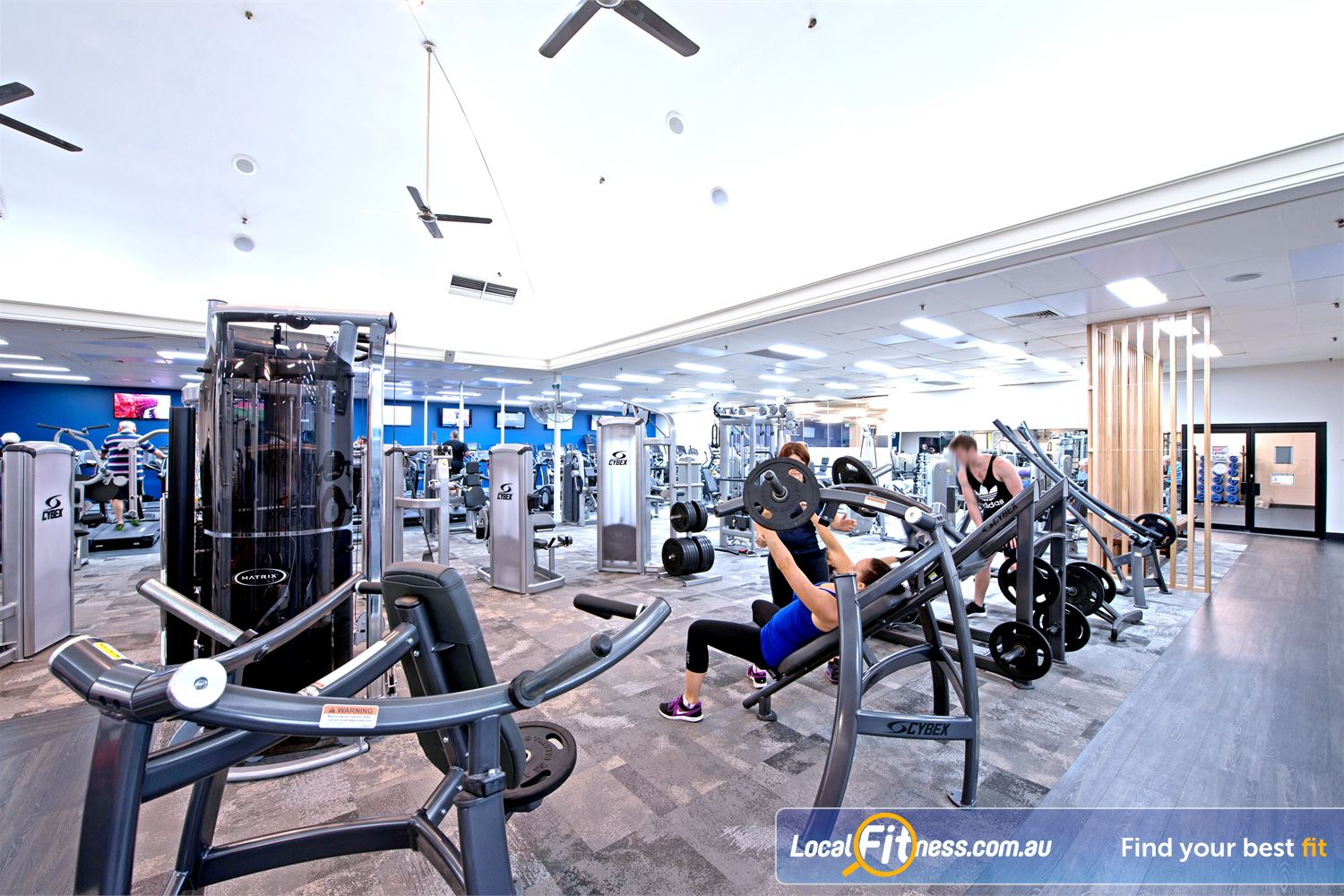 Goodlife Health Clubs Cottesloe Easy to use heavy duty plate-loading machines.