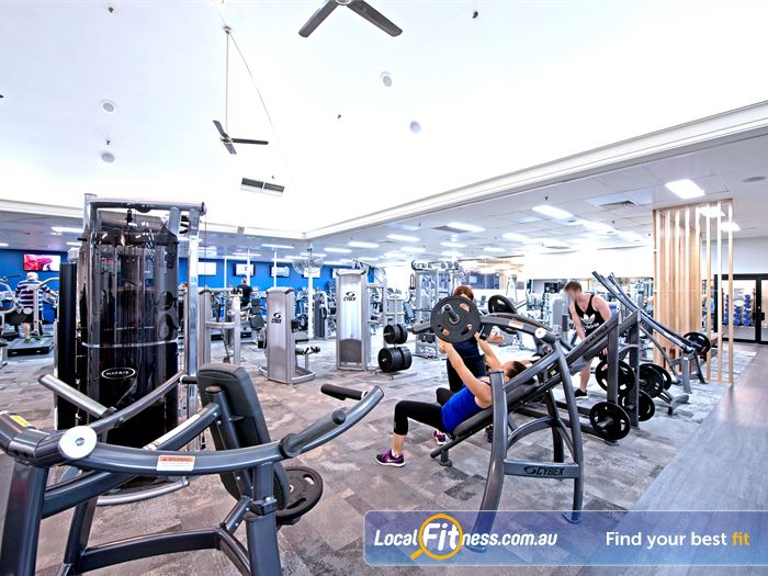 Goodlife Health Clubs Gym Myaree  | Easy to use heavy duty plate-loading machines.