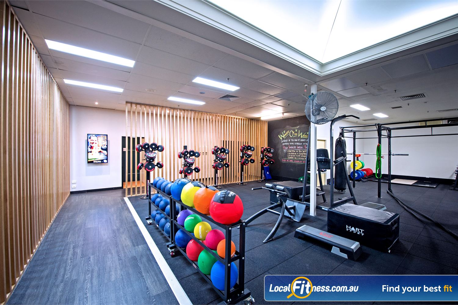 Goodlife Health Clubs Near Peppermint Grove The fully equipped Goodlife Cottesloe functional training area.