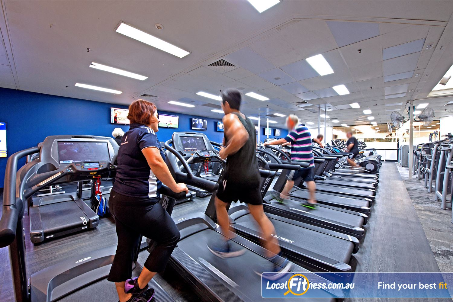 Goodlife Health Clubs Near Mosman Park Our Cottesloe gym facilities include the latest cardio with in-built LCD and iPod connectivity.