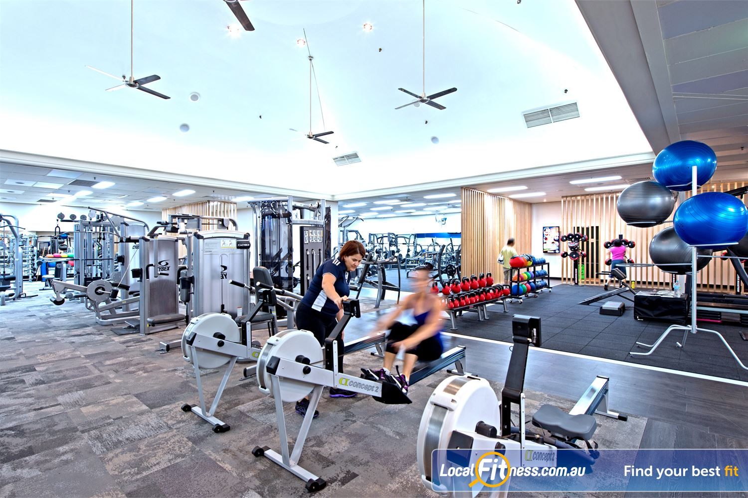 Goodlife Health Clubs Cottesloe Vary your cardio to include indoor rowing.