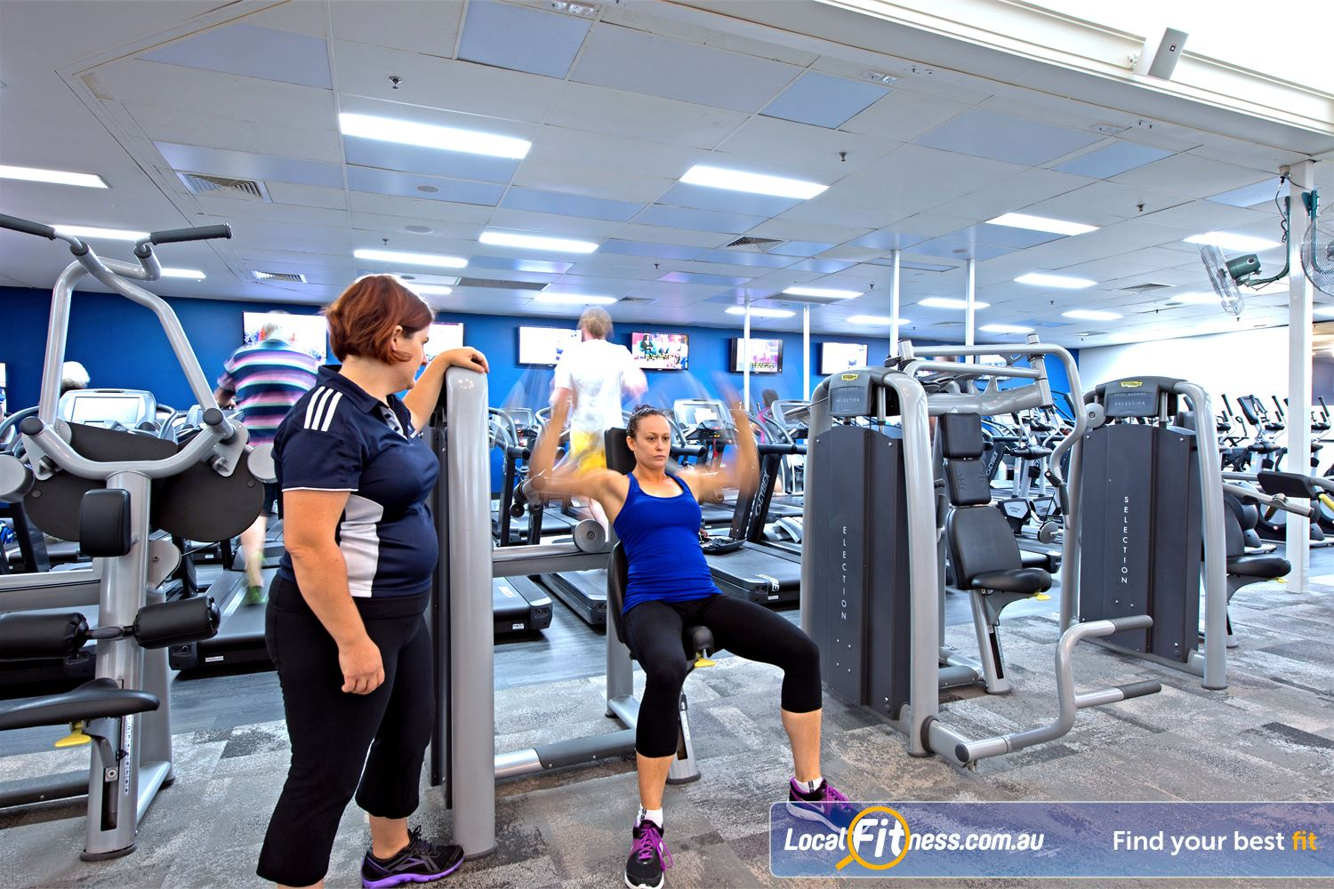 Goodlife Health Clubs Cottesloe Our team of Cottesloe gym instructors can help monitor your strength training.