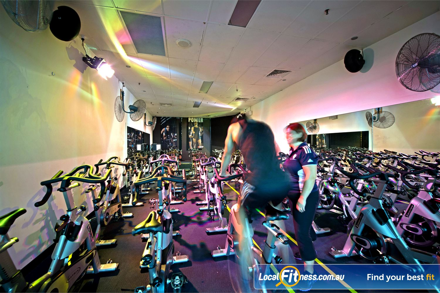 Goodlife Health Clubs Near Peppermint Grove Dedicated Cottesloe spin cycle studio.