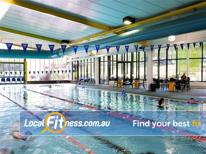 Ivanhoe Aquatic & Fitness Centre Gym Bulleen  | Seven lane indoor Ivanhoe swimming pool.