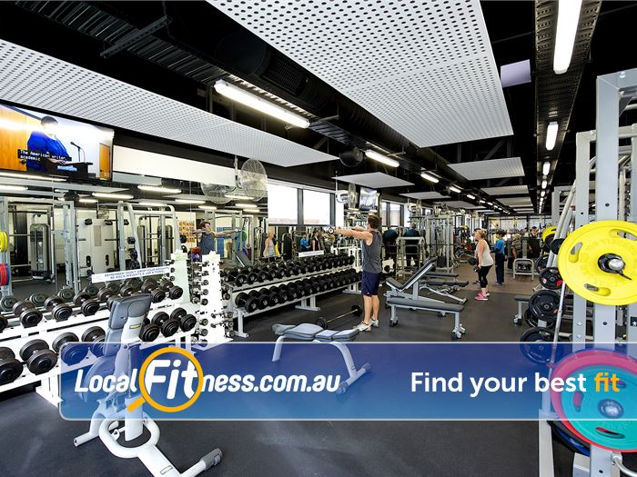 Ivanhoe Aquatic & Fitness Centre Near Heidelberg Fully equipped free-weights area.