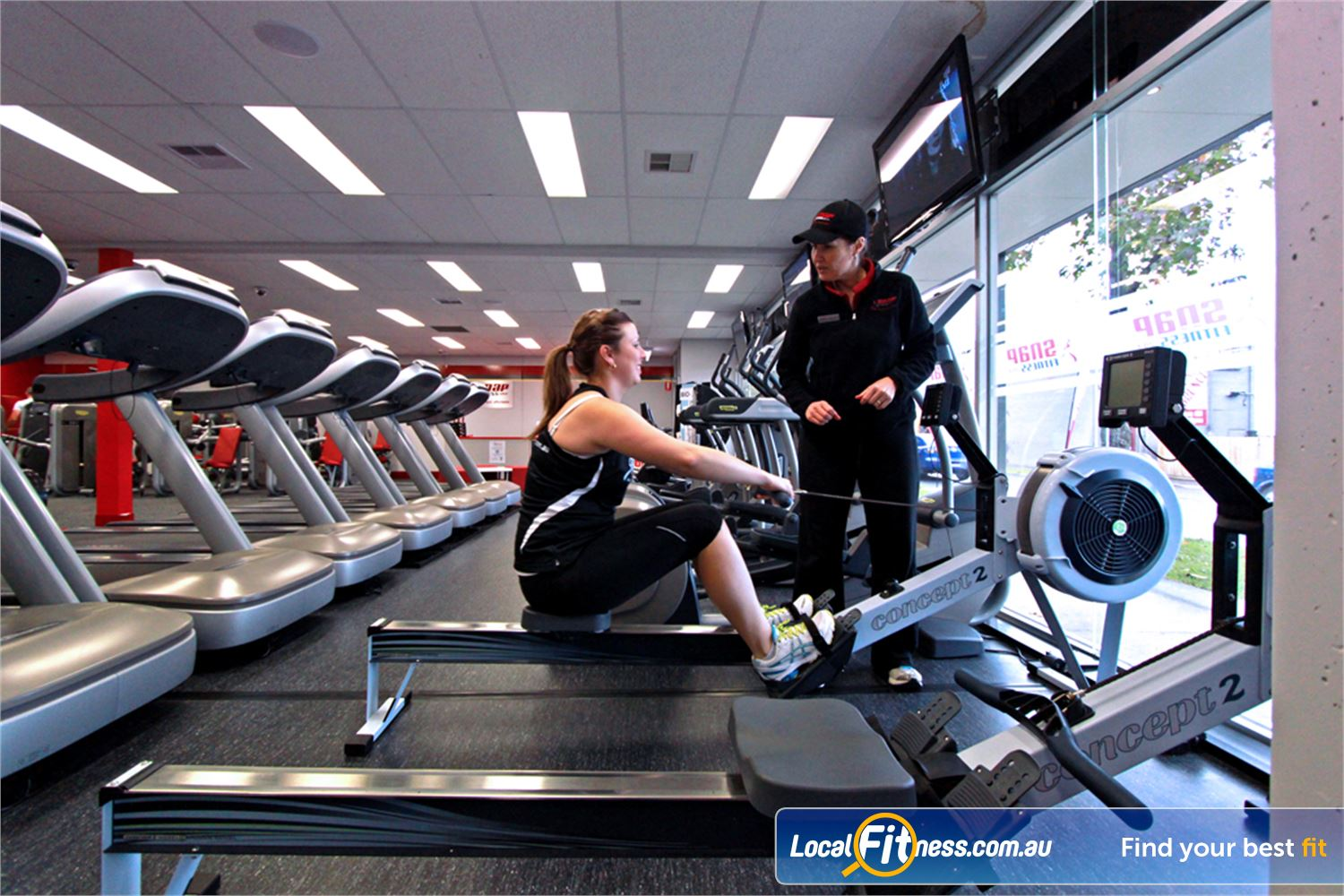 Snap Fitness Preston Vary your workout with high intensity indoor rowing.