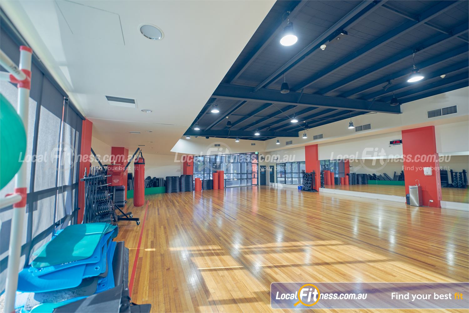 Maribyrnong Aquatic Centre Maribyrnong The spacious Maribyrnong group fitness studio.
