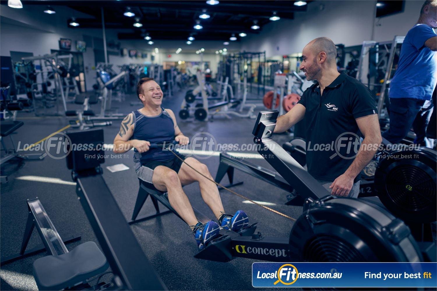 Maribyrnong Aquatic Centre Maribyrnong Vary your cardio workout to includes high-intensity indoor rowing.