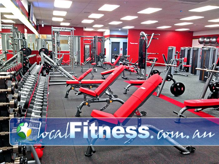 Snap Fitness Hilton Our 24 hour Hilton gym is fully equipped with dumbbells and barbells.