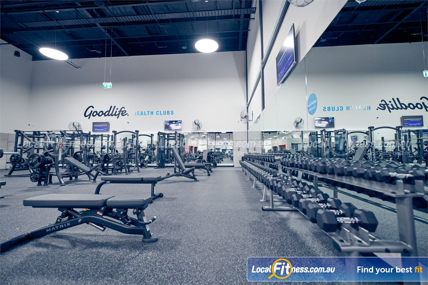 Goodlife Health Clubs Near Heathmont Goodlife Ringwood gym will include a comprehensive free-weights area.