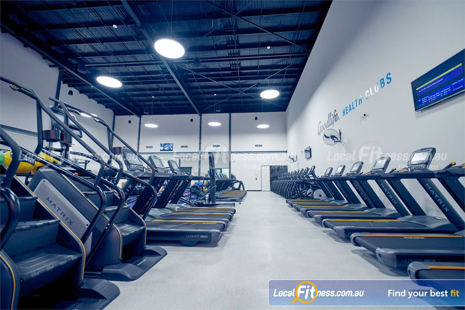 Goodlife Health Clubs Near Ringwood East All your favorite cardio is coming inc. treadmills, stair climbers, cross trainers and more.