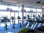 The high tech cardio area overlooking the Parkdale