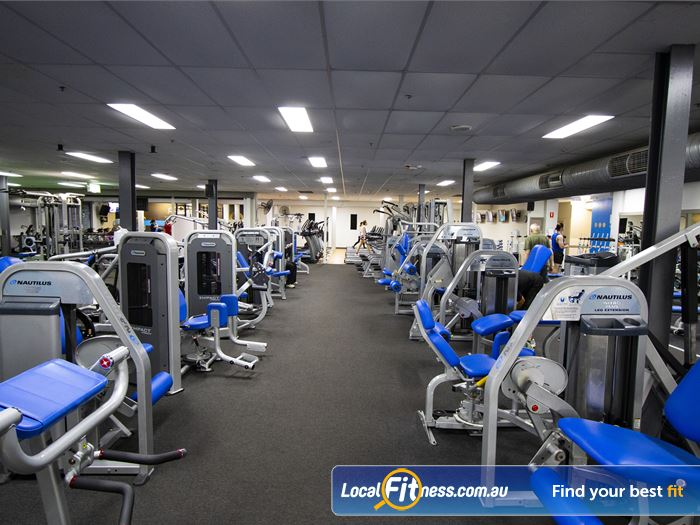 Genesis Fitness Clubs Gym Doncaster East  | Open floor spacing in our 2000 sq metre