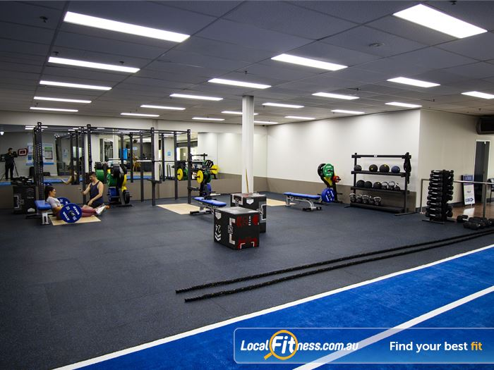 Genesis Fitness Clubs Gym Doncaster East  | Dedicated free-weights strength training room.