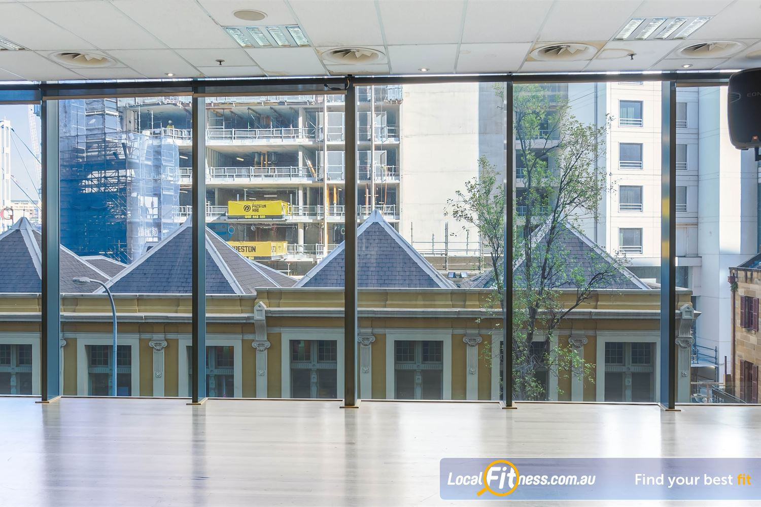 Fitness First Platinum Market St. Near Alexandria Mc Floor to ceiling views from our Sydney group fitness studio.