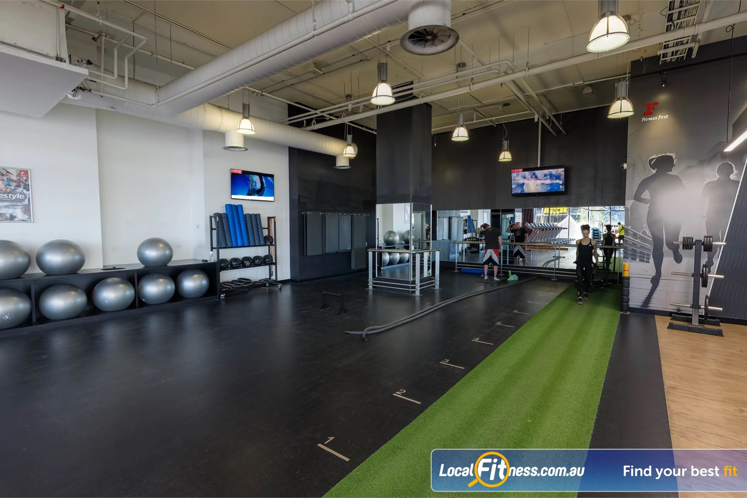 Fitness First Platinum Market St. Sydney Get functional with our indoor sled track, battle rope training and more.