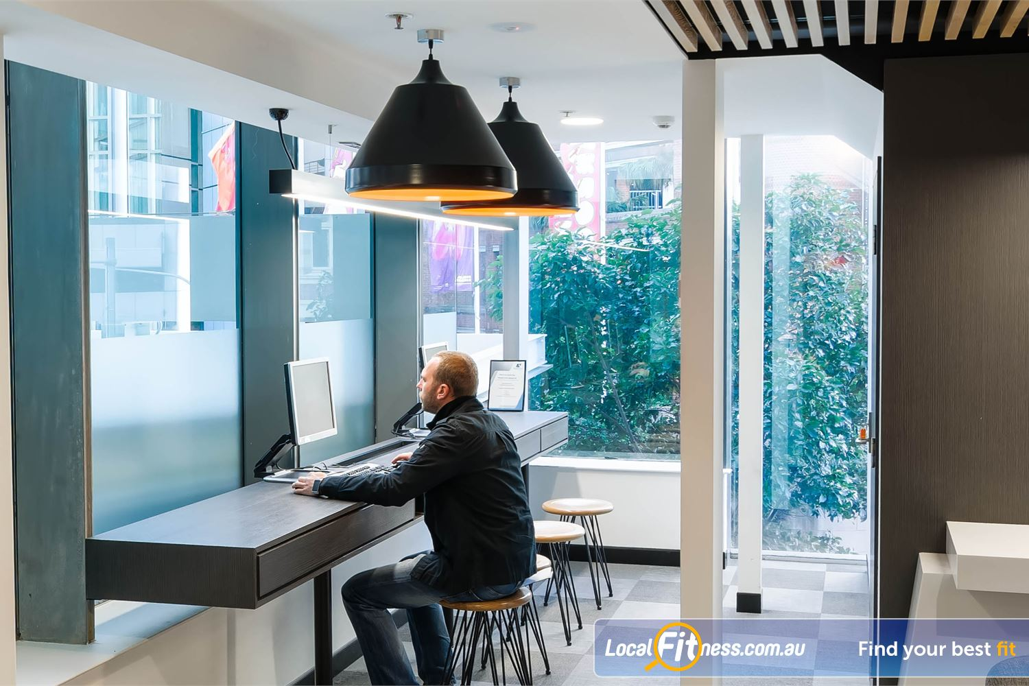 Fitness First Platinum Market St. Sydney Stay connected with our technology bar with WiFi access.