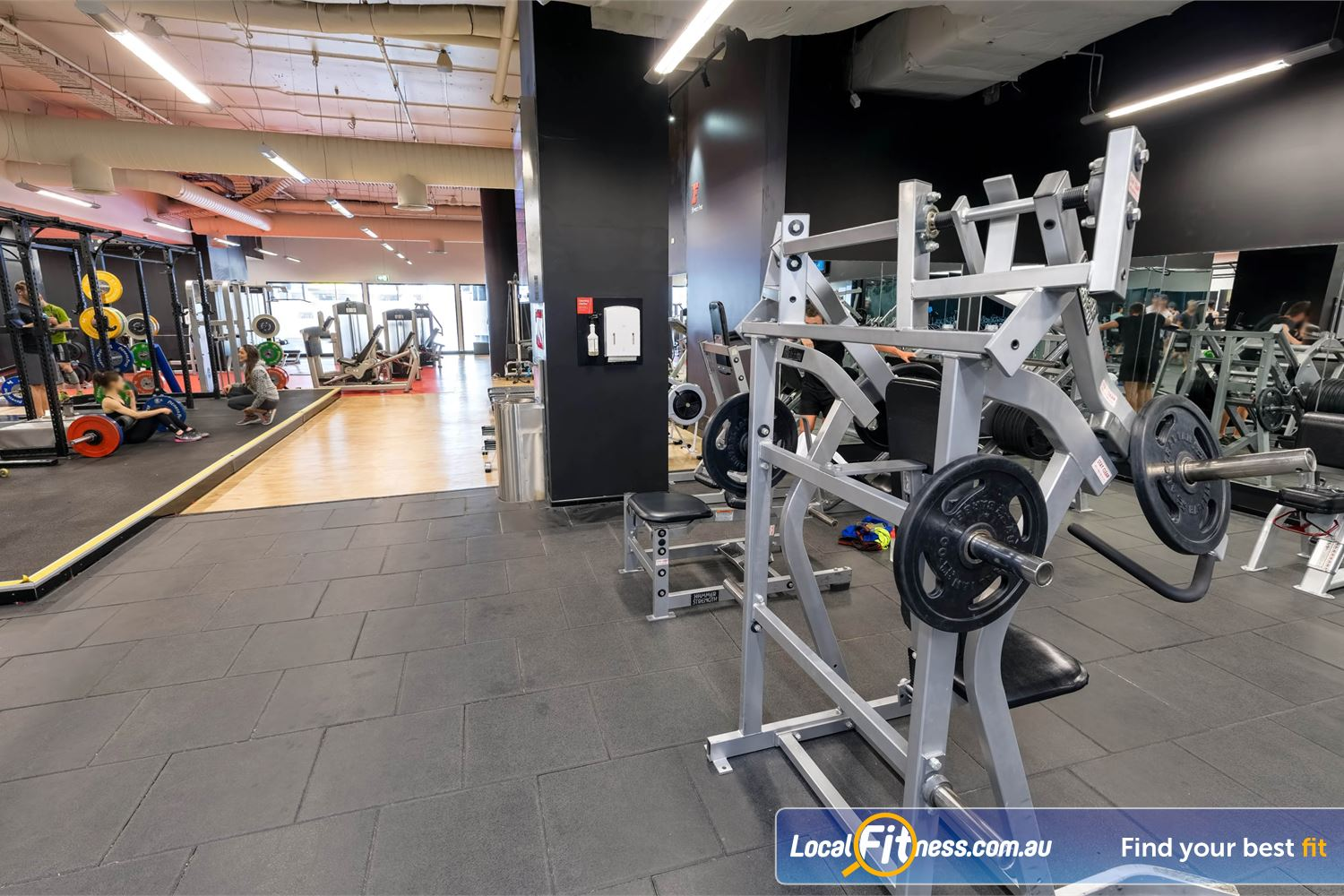 Fitness First Platinum Market St. Near World Square Our Sydney gym includes a full range of plate-loading machines to target specific muscle groups.