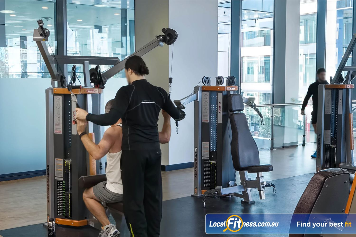 Fitness First Platinum Market St. Near Alexandria Mc Innovative training with the latest Human Sports Strength equipment to train multiple areas of your body.