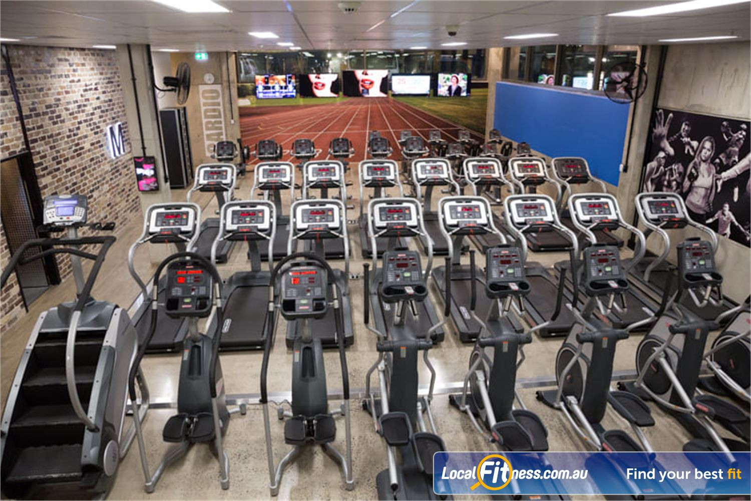 Fit n Fast Near Greenfield Park Our Wetherill Park gym includes rows and rows of cardio area.