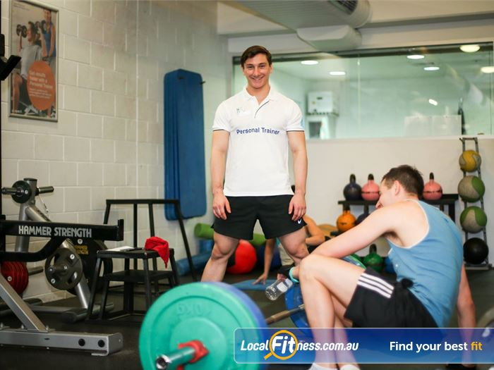 Cook and Phillip Park Aquatic and Fitness Centre Gym Alexandria  | Fully equipped free-weights training area.