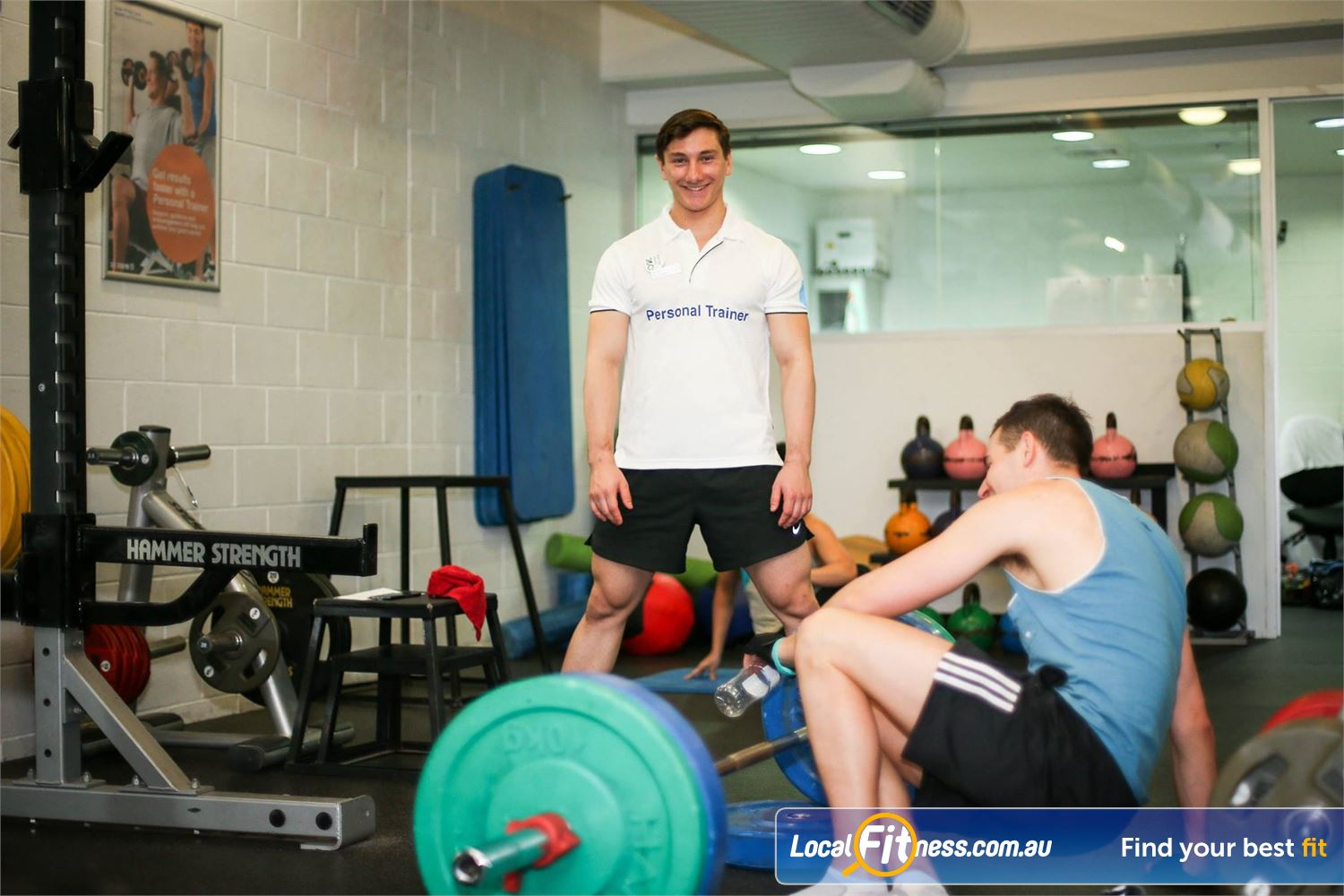 Cook and Phillip Park Aquatic and Fitness Centre Sydney Fully equipped free-weights training area.