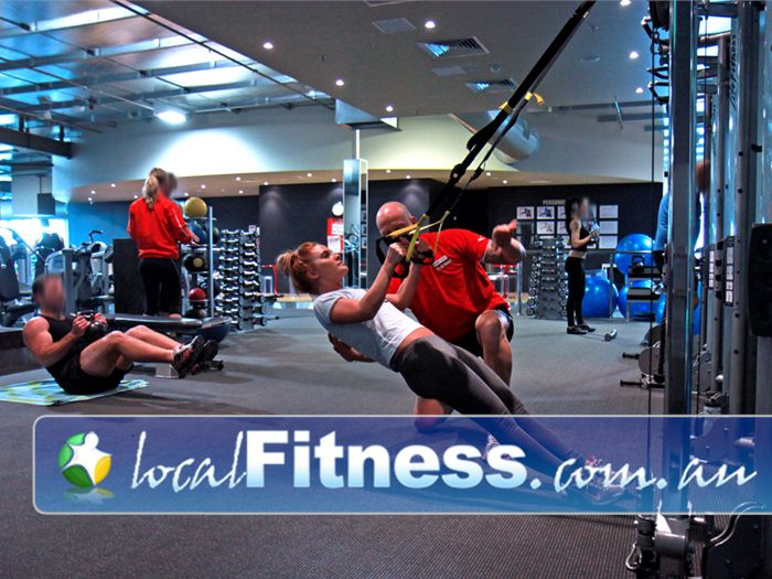The Gym Near Oaklands Park Challenge your core and improve body-weight strength with the TRX system.