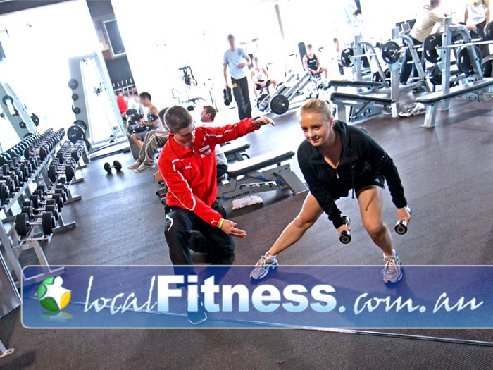 The Gym Glenelg Our Glenelg gym free-weights area is perfect for strength training.