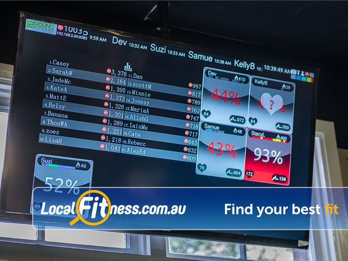 12 Round Fitness Near Winston Hills Get live tracking of your heart rate, calories and effort with MYZONE.