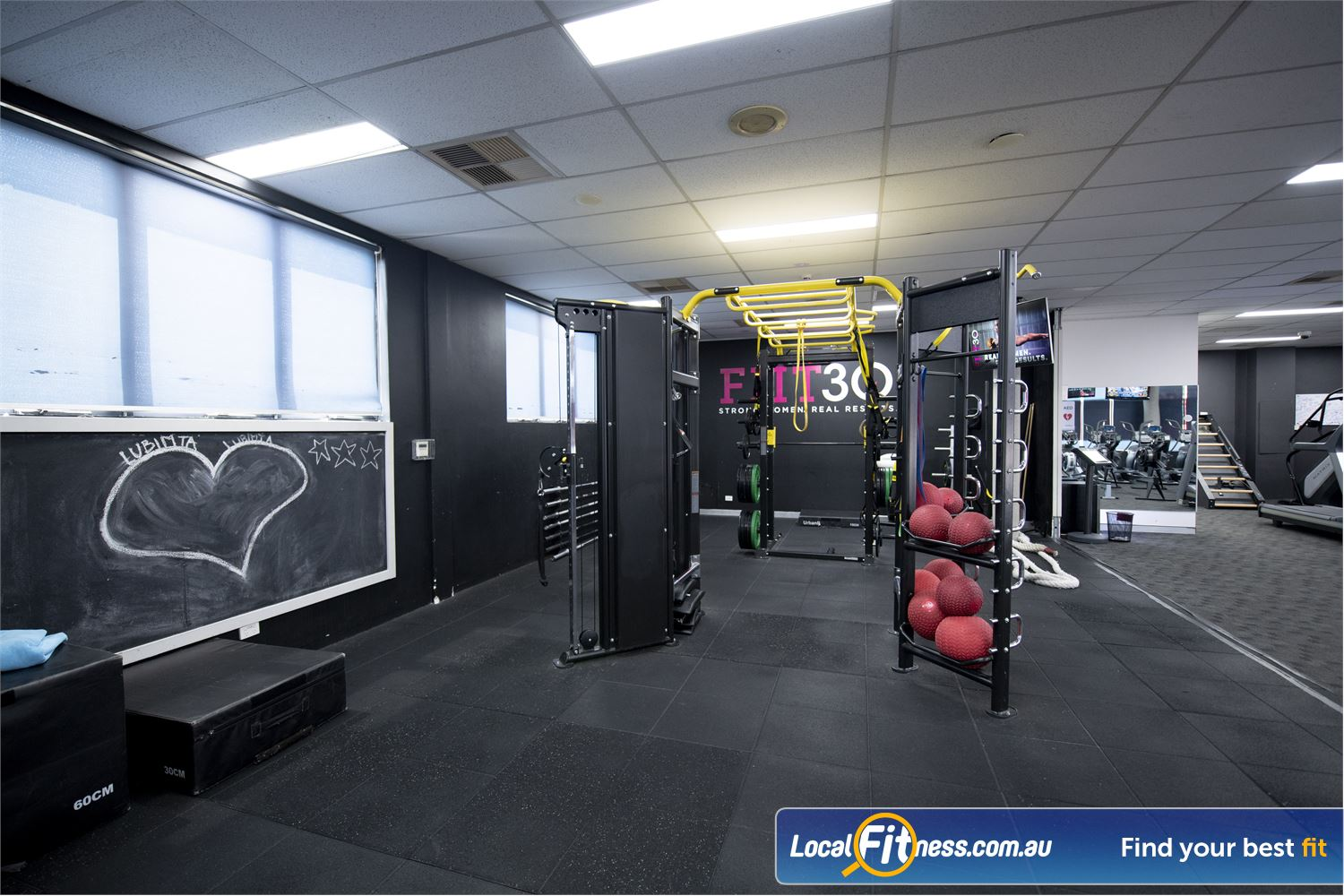 Fernwood Fitness Near Hurstville The dedicated functional training area with high performance strength system.
