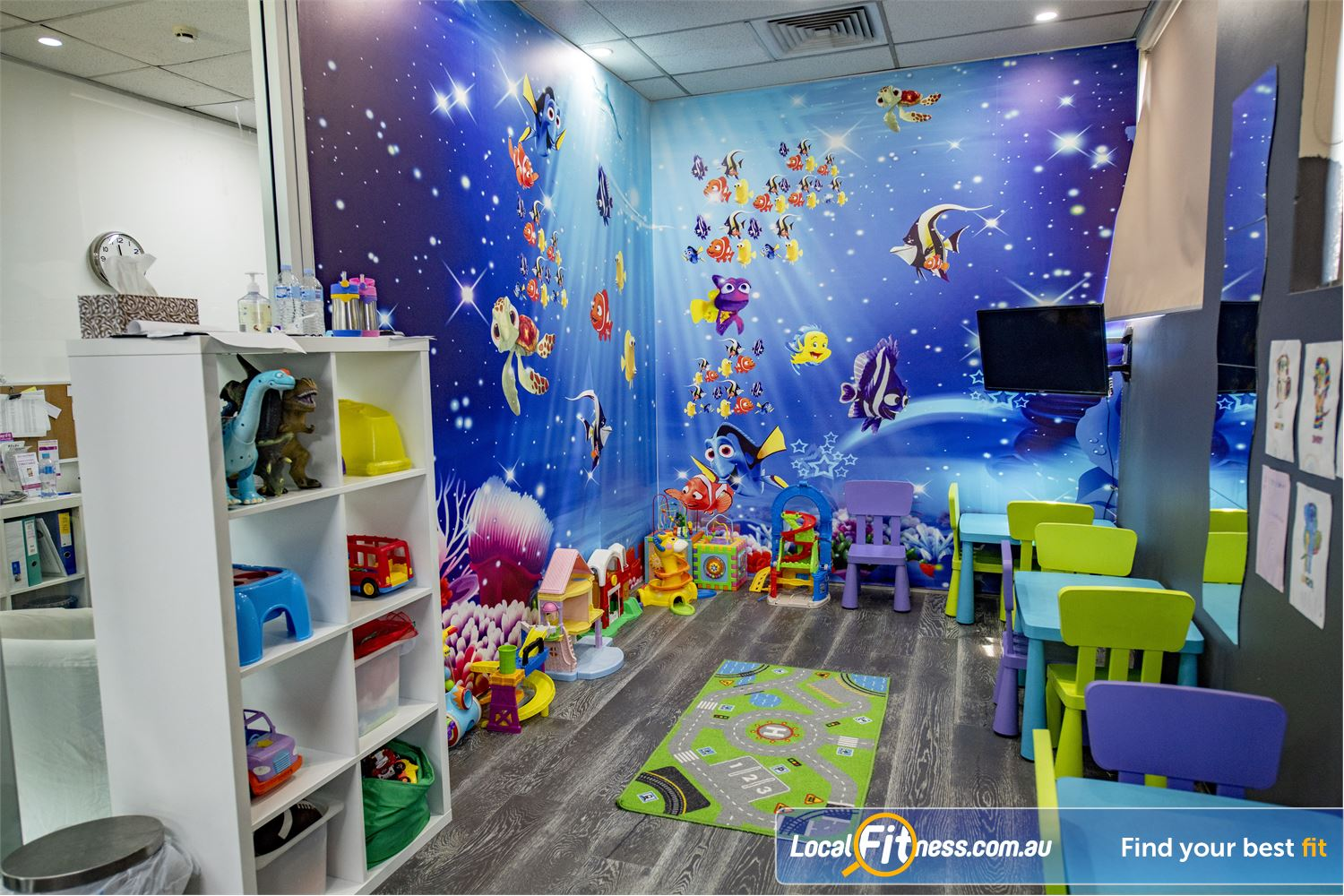 Fernwood Fitness Near Narwee Beverly Hills child minding caters for the demands of busy mothers.